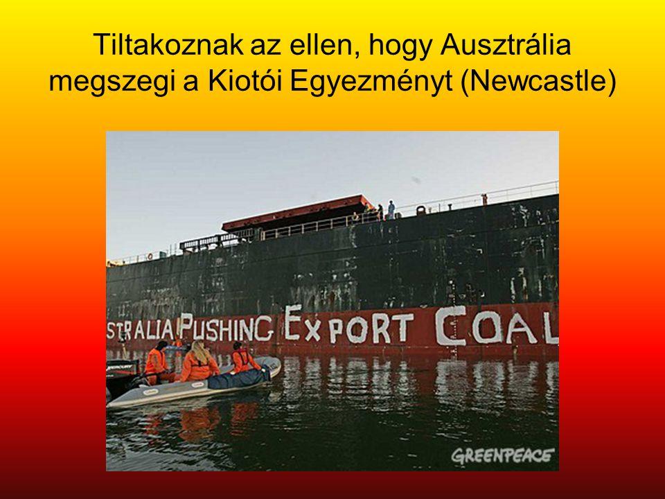 Tiltakoznak az ellen, hogy Ausztrália megszegi a Kiotói Egyezményt (Newcastle)