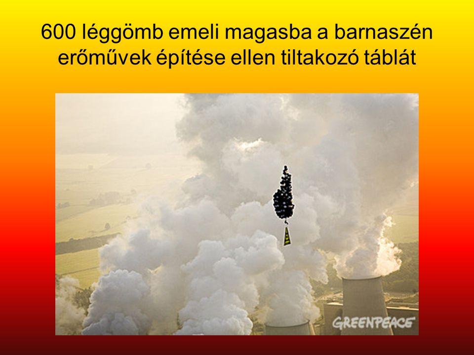 600 léggömb emeli magasba a barnaszén erőművek építése ellen tiltakozó táblát