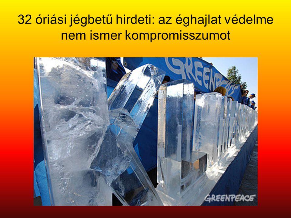 32 óriási jégbetű hirdeti: az éghajlat védelme nem ismer kompromisszumot