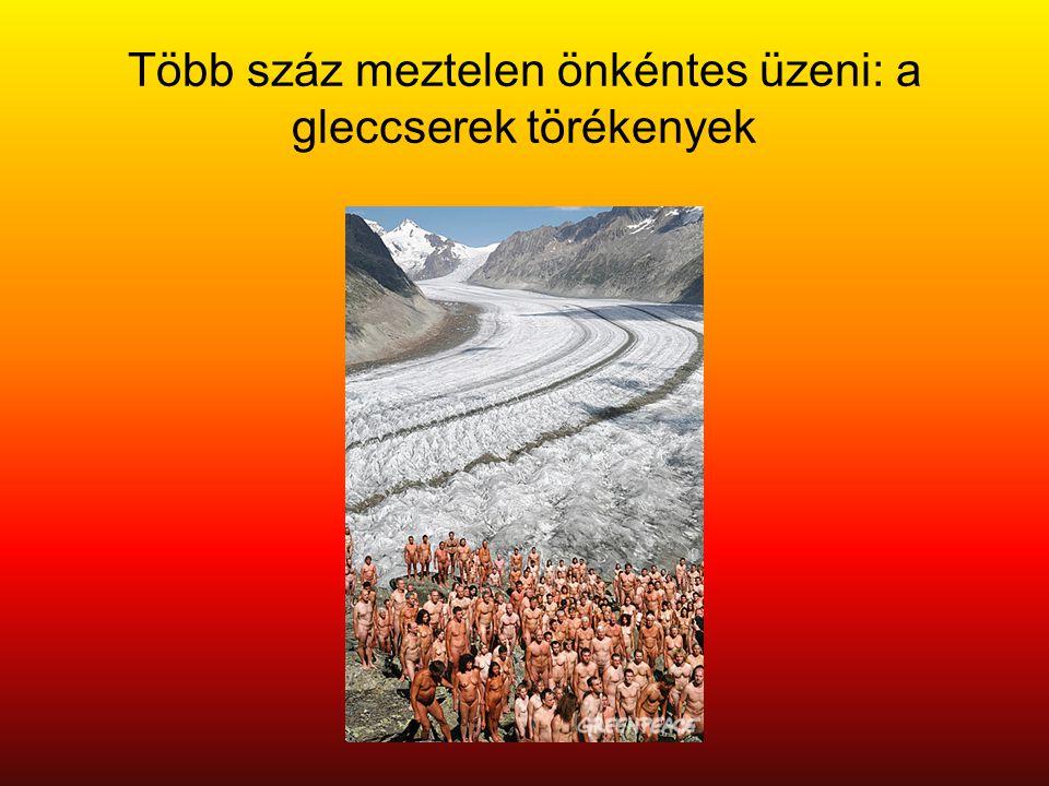 Több száz meztelen önkéntes üzeni: a gleccserek törékenyek