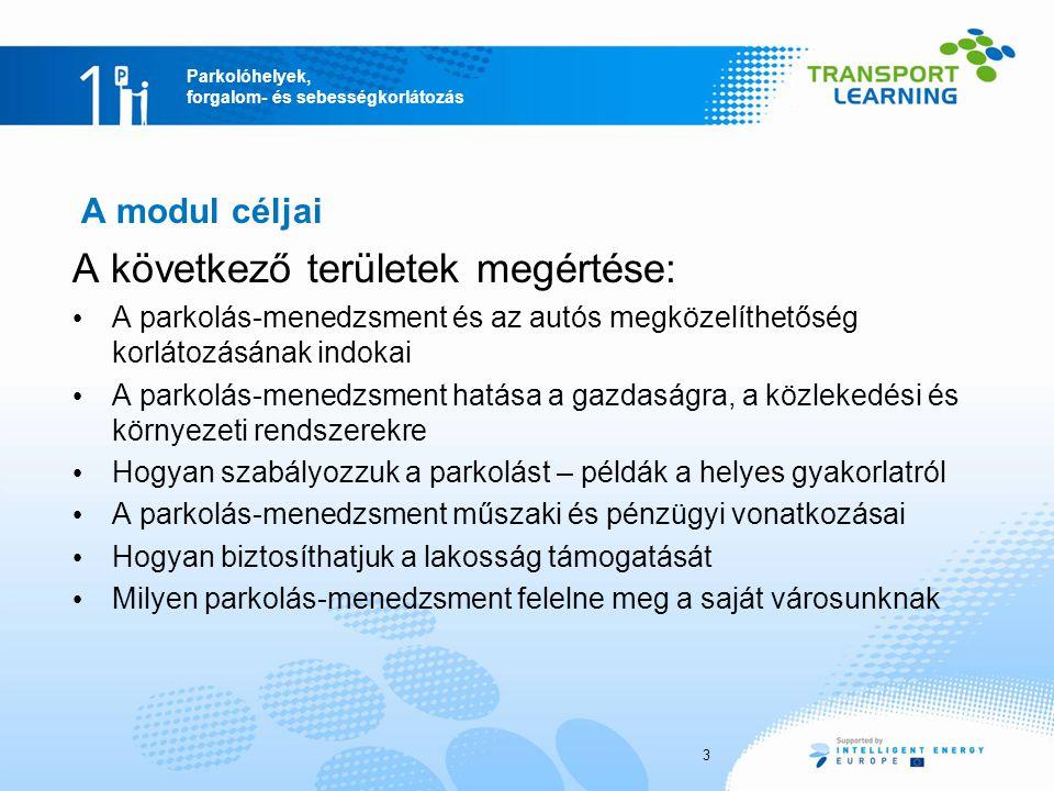 Parkolóhelyek, forgalom- és sebességkorlátozás A parkolás és a kiskereskedelmi értékesítés kapcsolata Hollandiai adatok 42 bevásárló- központ Forrás: Mingardo és Becker 2011 74