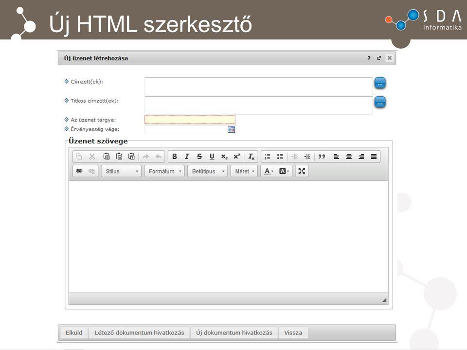 Új HTML szerkesztő