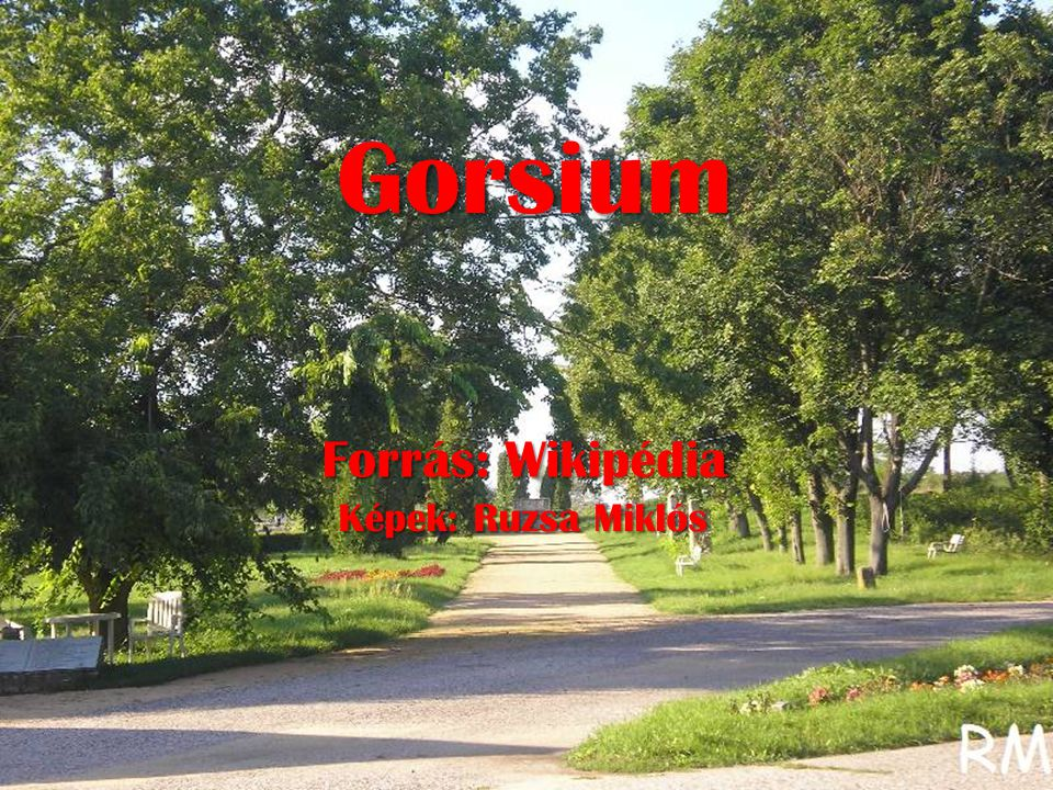 Gorsium Gorsium Forrás: Wikipédia Képek: Ruzsa Miklós