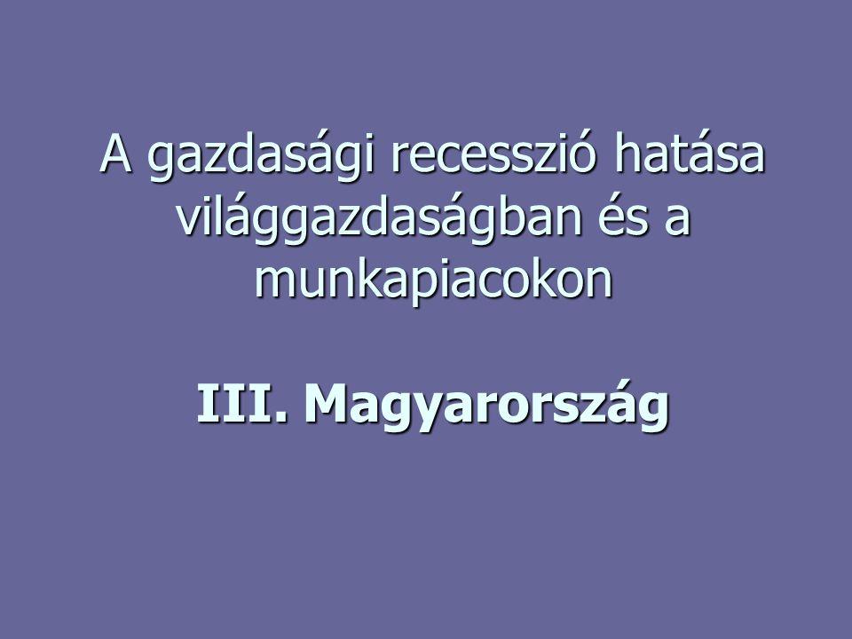 A gazdasági recesszió hatása világgazdaságban és a munkapiacokon III. Magyarország
