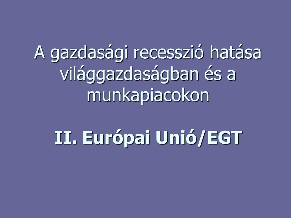 A gazdasági válság hatása az EU-ra