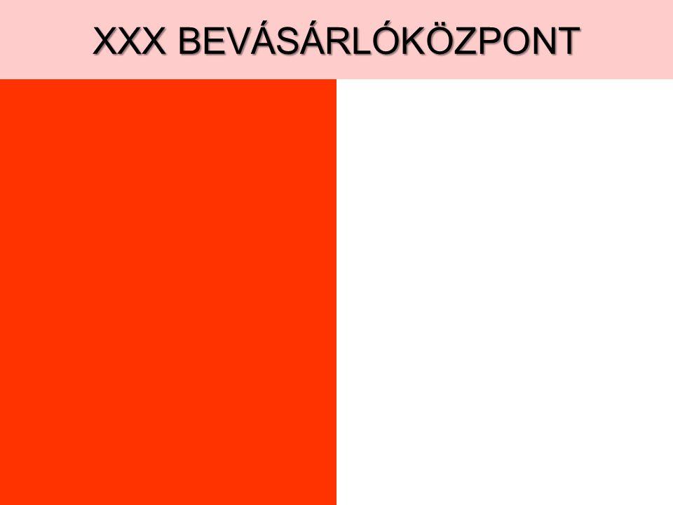 XXX BEVÁSÁRLÓKÖZPONT
