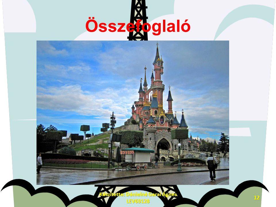 Összefoglaló Készítette: Dánielné Garai Ágnes LEV69128 12