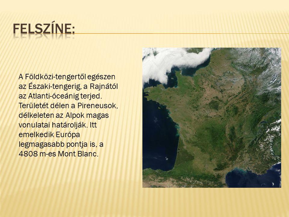 A Földközi-tengertől egészen az Északi-tengerig, a Rajnától az Atlanti-óceánig terjed. Területét délen a Pireneusok, délkeleten az Alpok magas vonulat