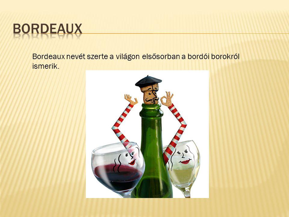 Bordeaux nevét szerte a világon elsősorban a bordói borokról ismerik.