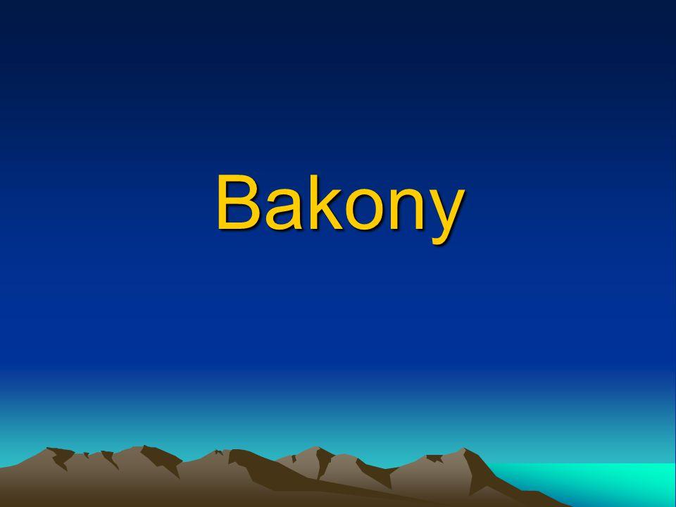 Déli-Bakony Legmagasabb pontja: Kab-hegy (600 m) Árkos süllyedékekkel határolt, töréses szerkezetű sasbércek és hegyközi medencék sorozatából épül fel Fennsíkokon bazaltos lávatakaró, vulkáni kúpok A Balaton-felvidéktől a Nagyvázsonyi-medence választja el