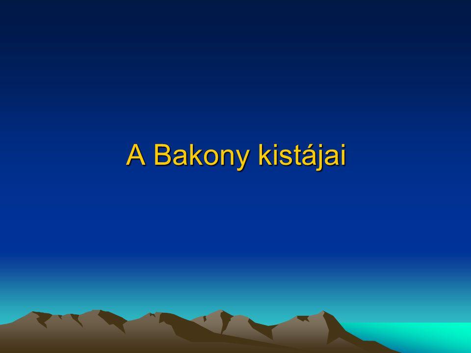 A Bakony kistájai