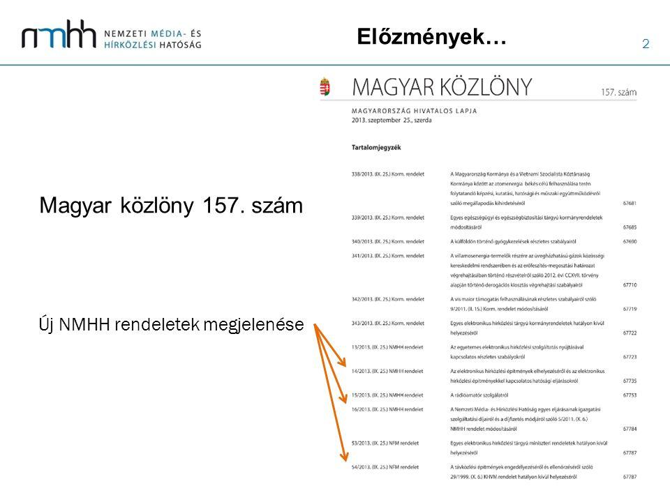 13 Részletesebben… a 14/2013.(IX. 25.) NMHH rendeletről 6.