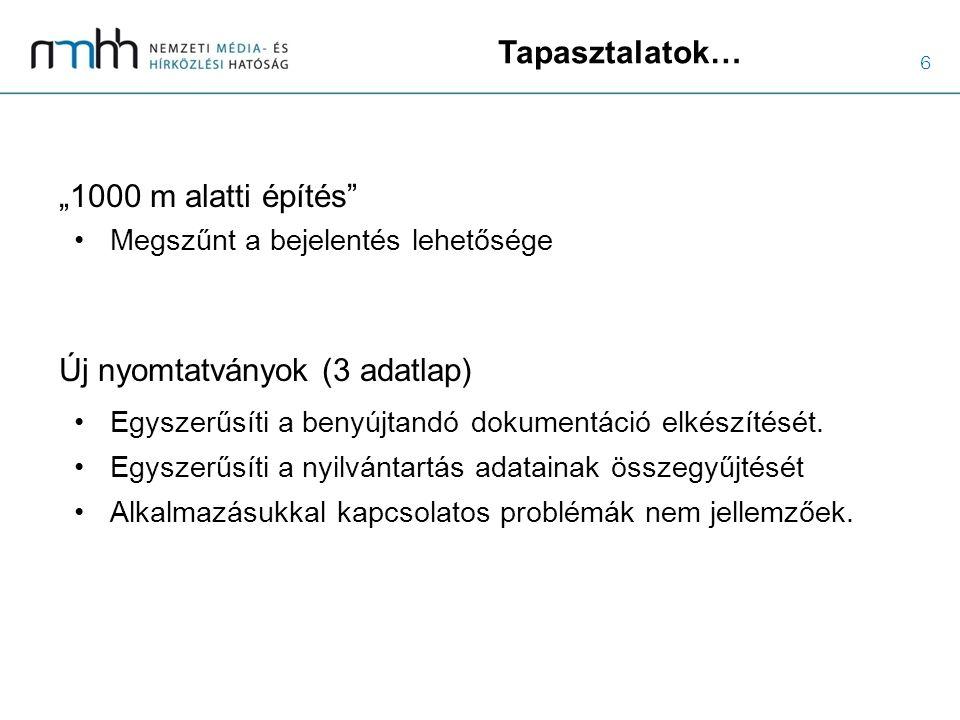 7 Részletesebben… a 14/2013.(IX. 25.) NMHH rendeletről I.