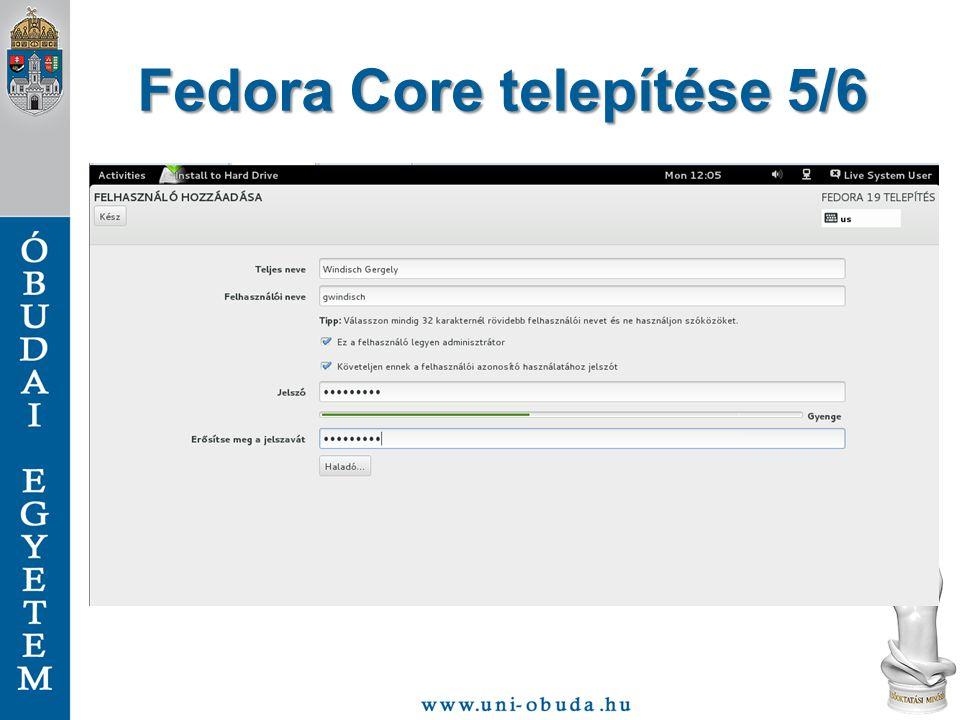 Fedora Core telepítése 5/6