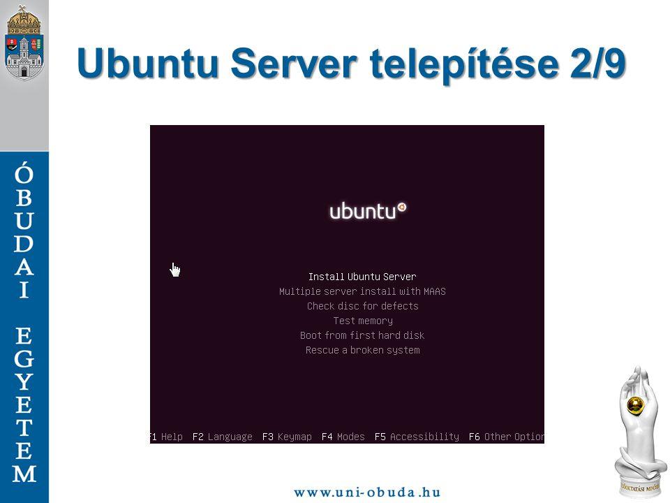 Ubuntu Server telepítése 2/9