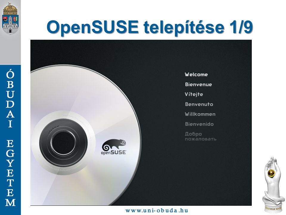 OpenSUSE telepítése 1/9