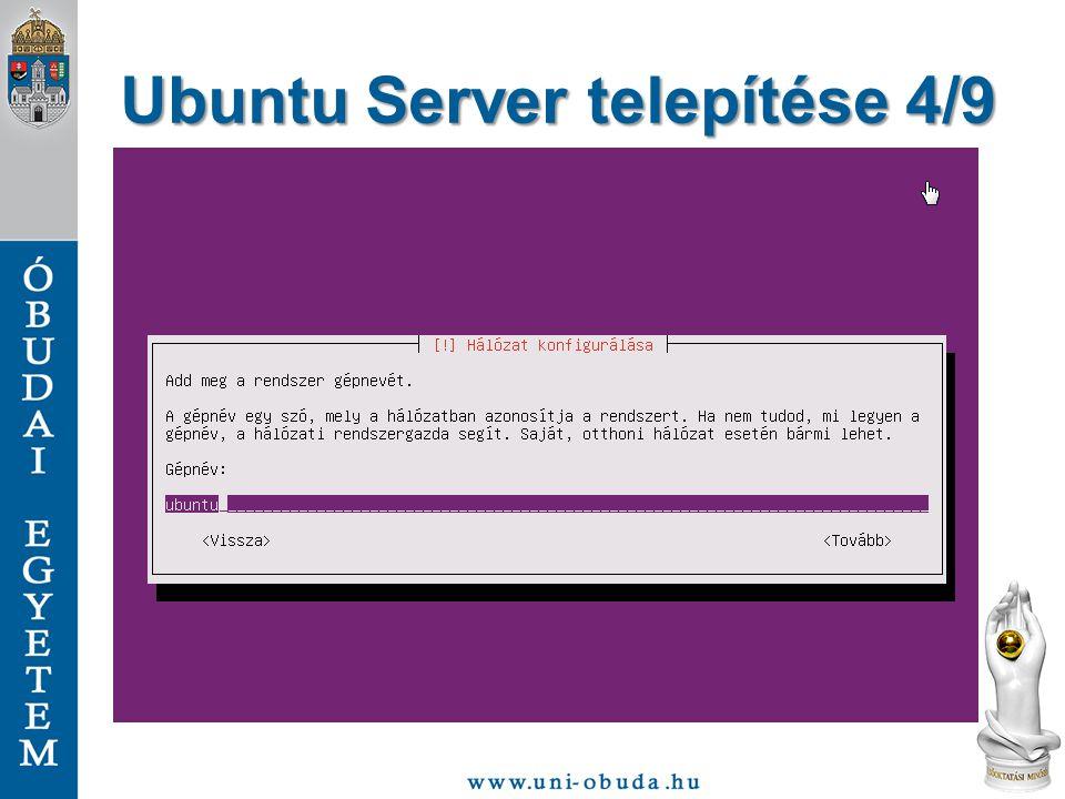 Ubuntu Server telepítése 4/9