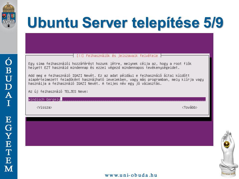 Ubuntu Server telepítése 5/9
