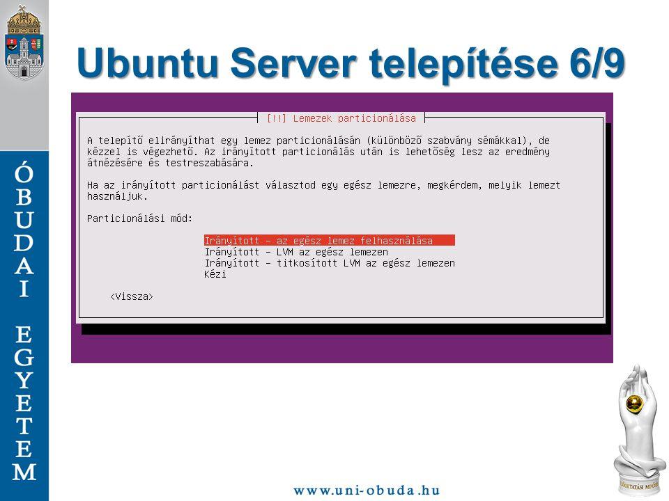 Ubuntu Server telepítése 6/9