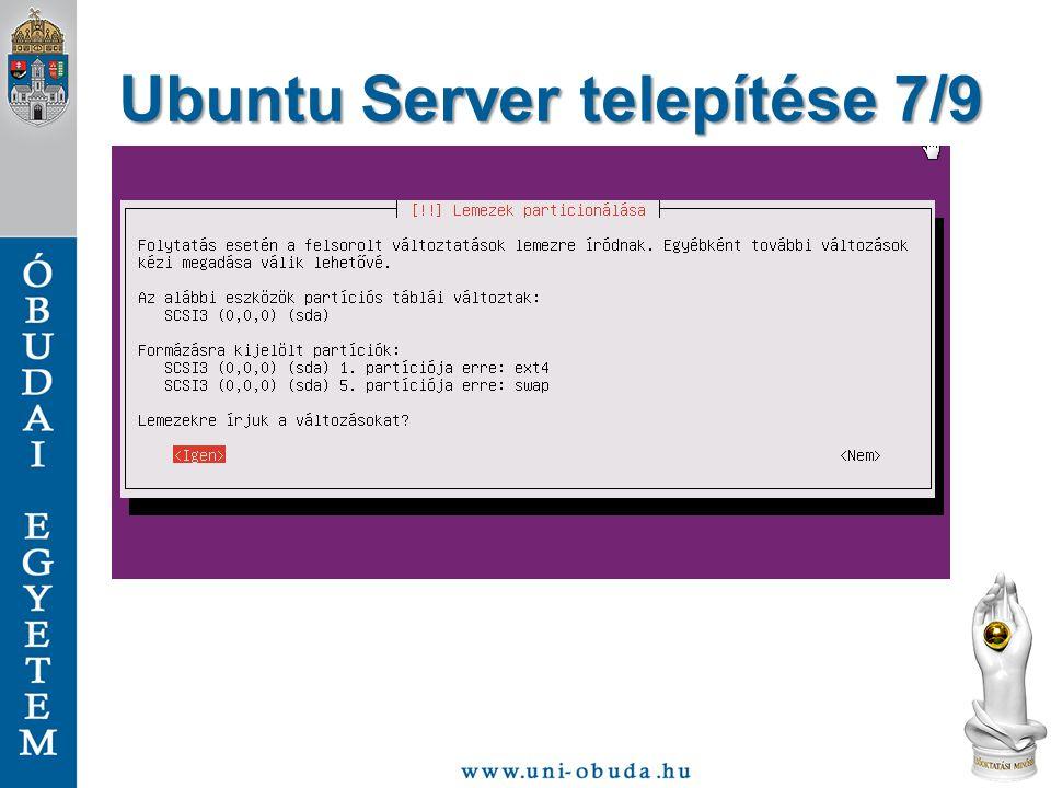 Ubuntu Server telepítése 7/9