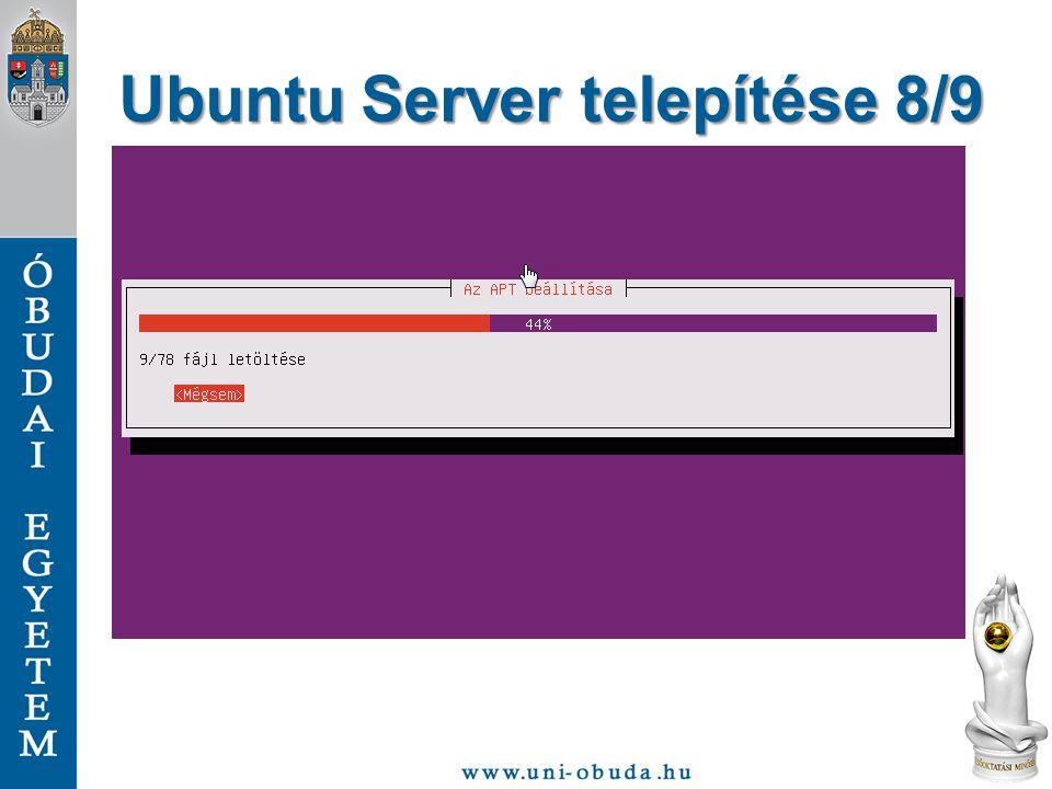 Ubuntu Server telepítése 8/9