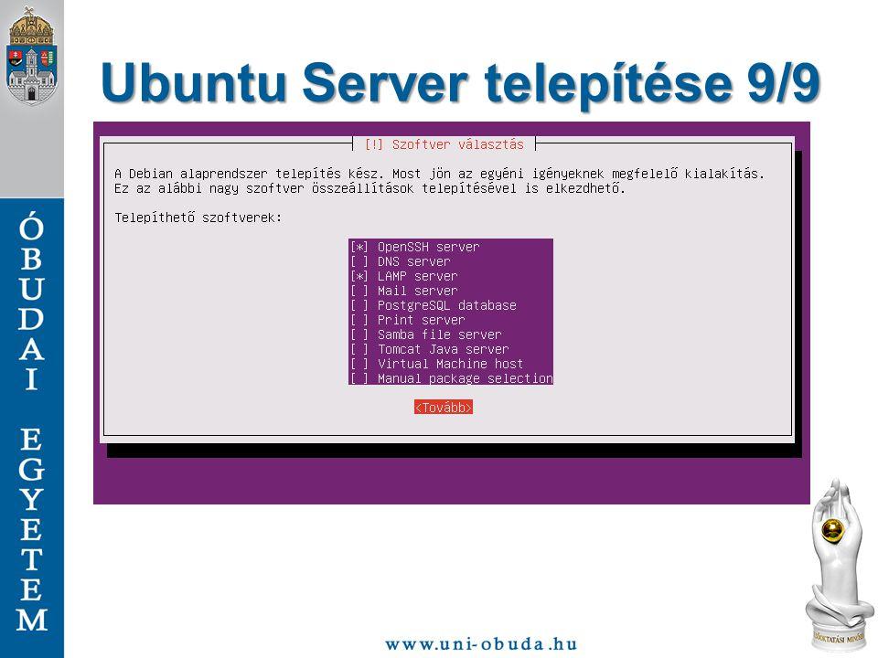 Ubuntu Server telepítése 9/9