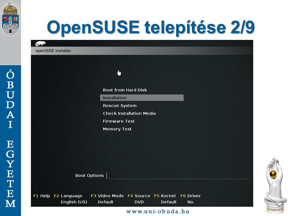 OpenSUSE telepítése 2/9