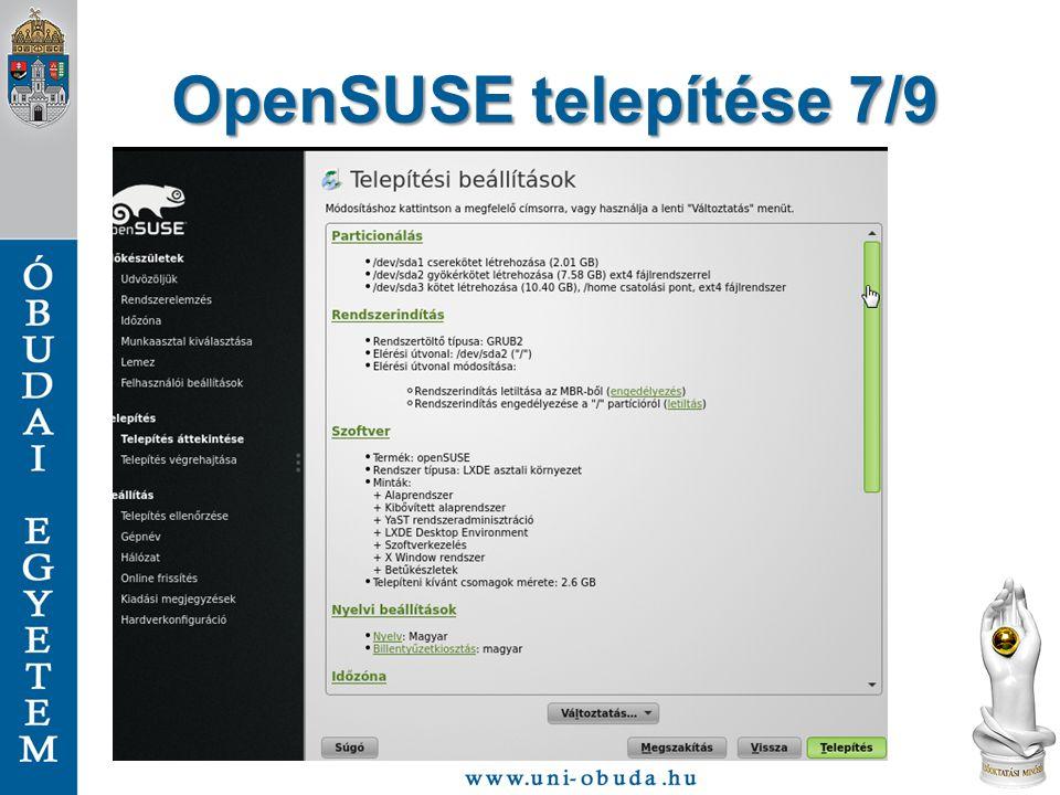OpenSUSE telepítése 7/9