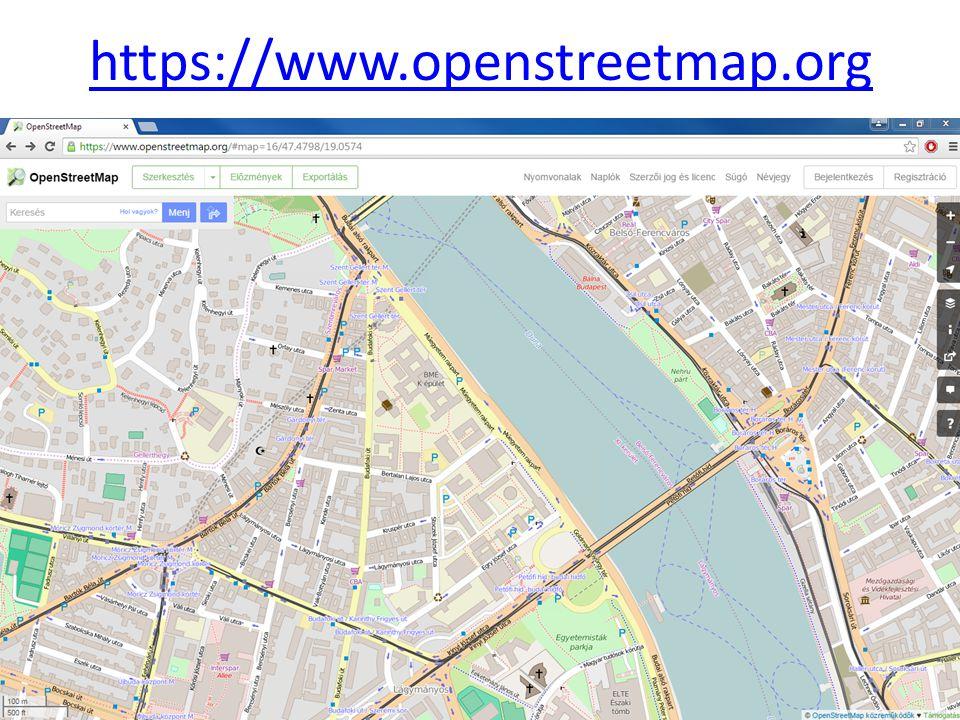 OSM felhasználói fiók létrehozása Megjelenítendő név: Tantárgy_kód-Neptun_kód https://www.openstreetmap.org/user/new?cookie_test=true