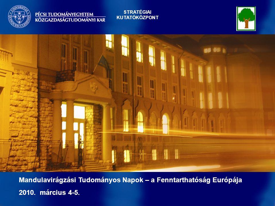 Endogén területfejlődésCélmeghatározás: A TERÜLETFEJLESZTÉS CÉLJA 1 Mandulavirágzási Tudományos Napok – a Fenntarthatóság Európája 2010.