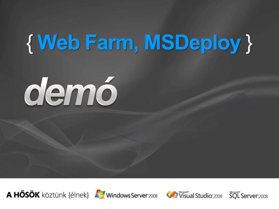 { Web Farm, MSDeploy }