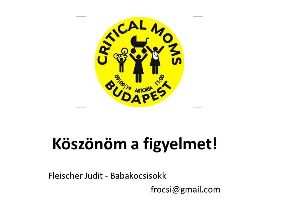 Köszönöm a figyelmet! Fleischer Judit - Babakocsisokk frocsi@gmail.com