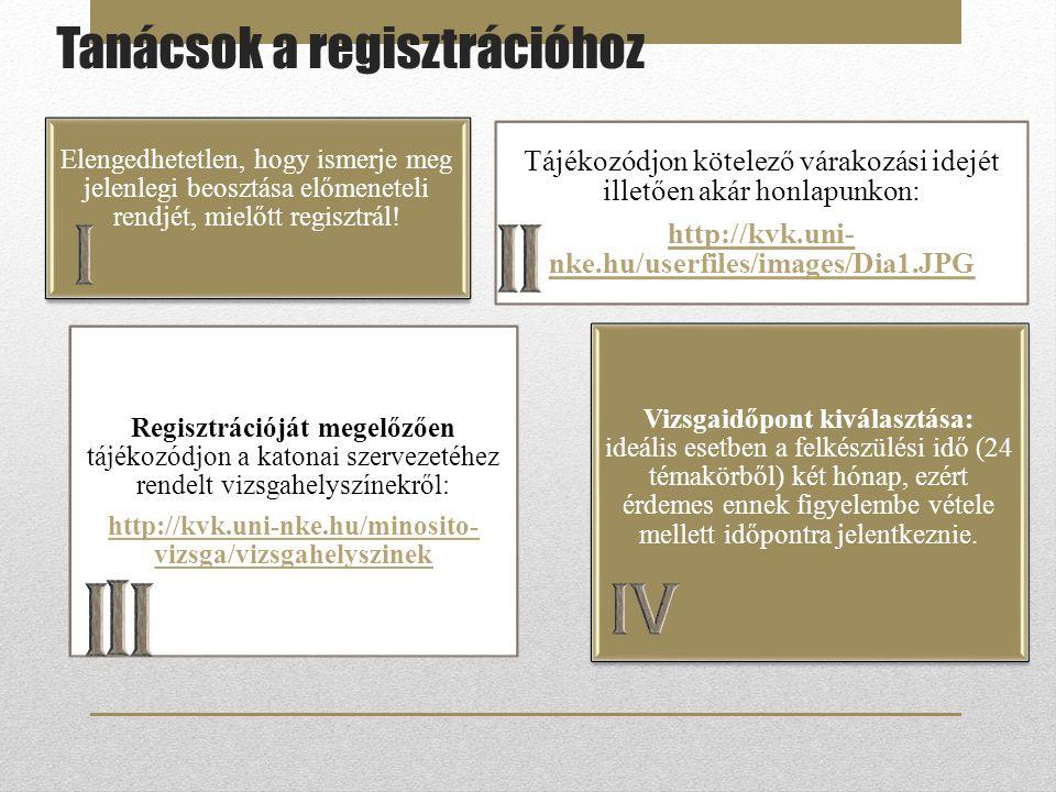 Elengedhetetlen, hogy ismerje meg jelenlegi beosztása előmeneteli rendjét, mielőtt regisztrál! Tájékozódjon kötelező várakozási idejét illetően akár h