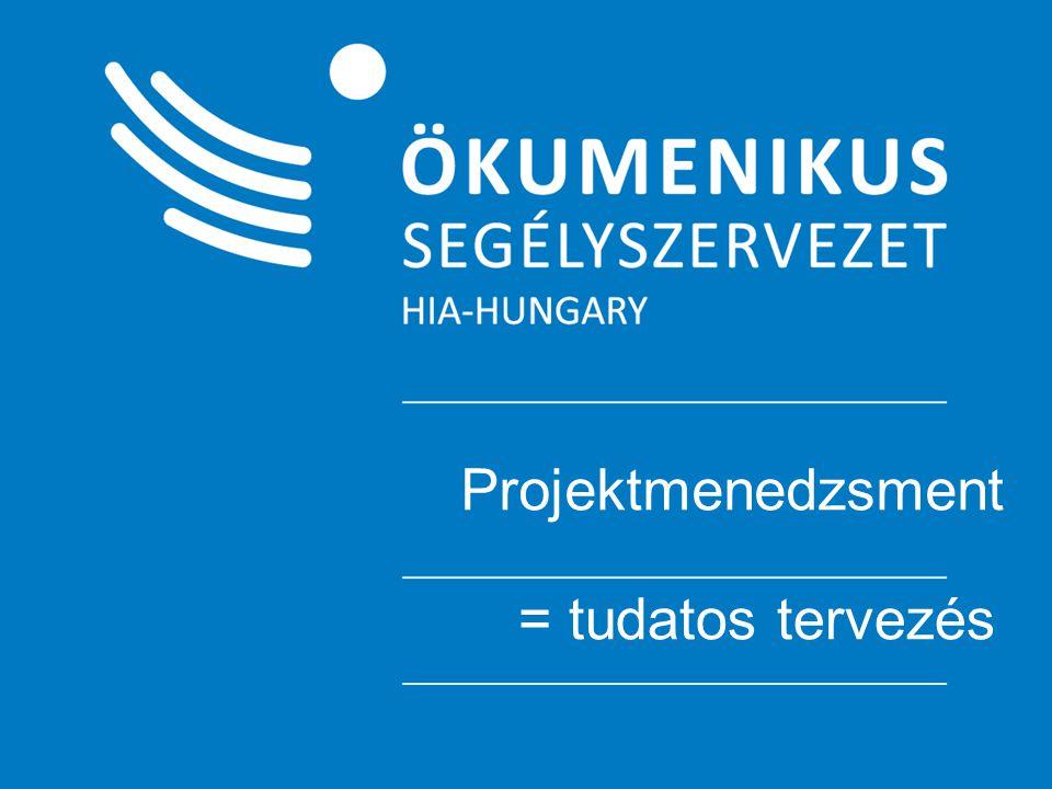 """Célkitűzések meghatározása Célfa módszer A problémafa """"fordítottja , a problémákat megoldásokra cseréljük Célhierarchiát mutat be"""