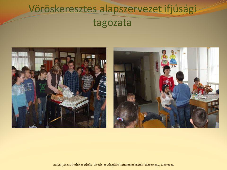 Bolyai János Általános Iskola, Óvoda és Alapfokú Művészetoktatási Intézmény, Debrecen Vöröskeresztes alapszervezet ifjúsági tagozata