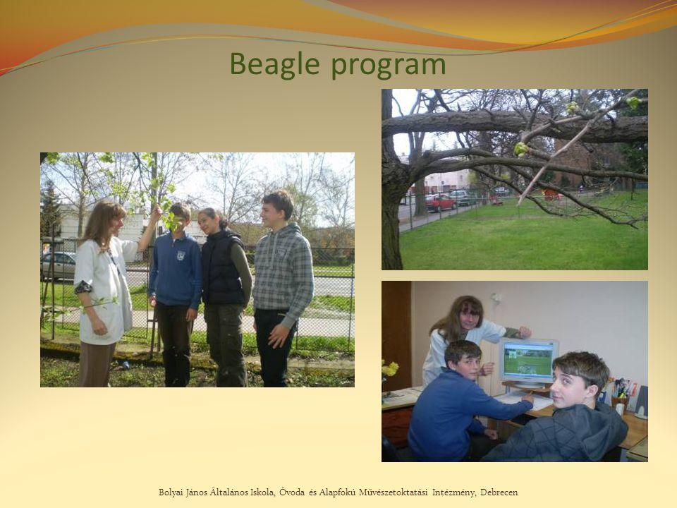 Bolyai János Általános Iskola, Óvoda és Alapfokú Művészetoktatási Intézmény, Debrecen Beagle program