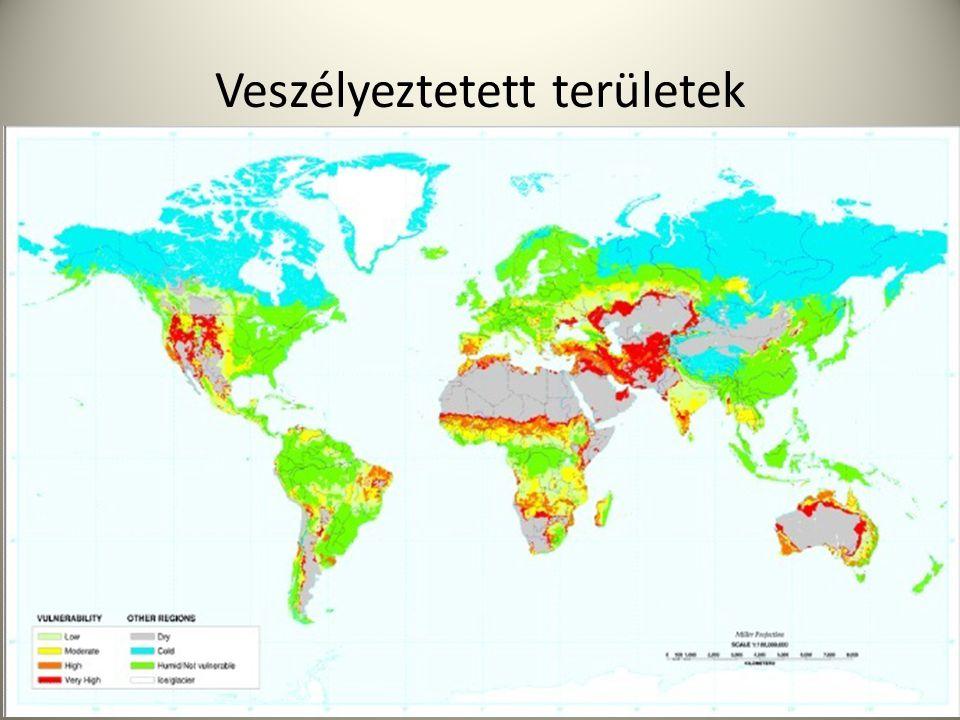 Talajpusztulás Megváltoztatás mértéke -> ökológiai tűrőképesség Biológiai sok féleség csökken, invazív fajok száma nő Népesség növekedés->túl legeletetett termőföldek, elapadt folyók->új területek keresése, erdőírtás