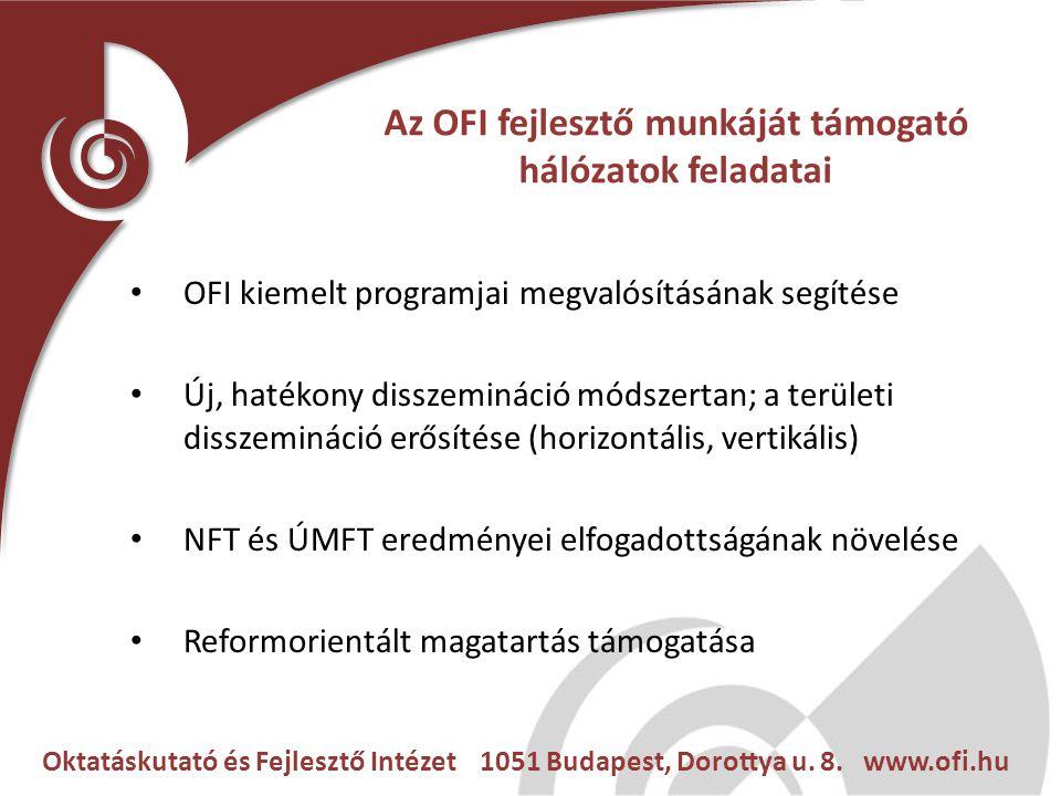Oktatáskutató és Fejlesztő Intézet 1051 Budapest, Dorottya u. 8. www.ofi.hu Az OFI fejlesztő munkáját támogató hálózatok feladatai OFI kiemelt program