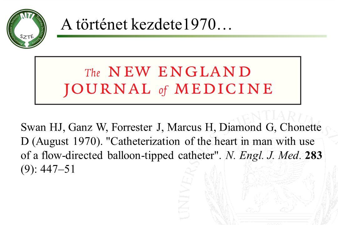 A történet kezdete1970… Swan HJ, Ganz W, Forrester J, Marcus H, Diamond G, Chonette D (August 1970).