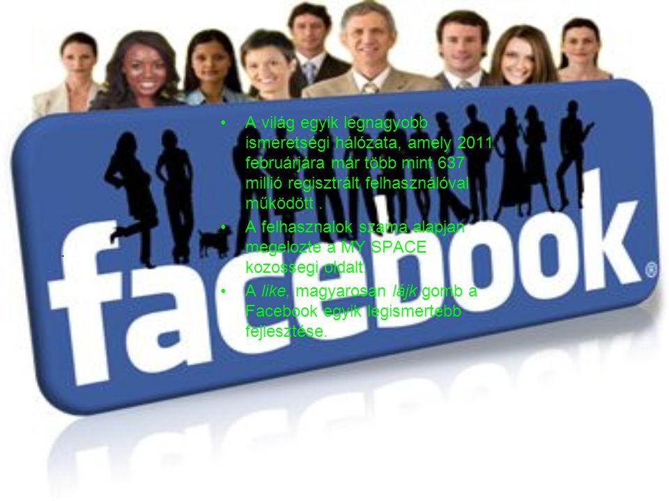 A világ egyik legnagyobb ismeretségi hálózata, amely 2011 februárjára már több mint 637 millió regisztrált felhasználóval működött.