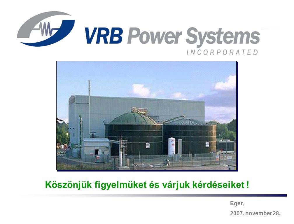Energy Storage & Power Quality Solutions -30- Eger, 2007. november 28. Köszönjük figyelmüket és várjuk kérdéseiket !