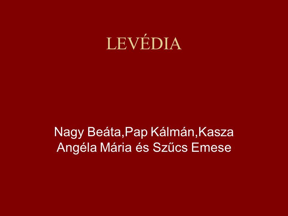 LEVÉDIA Nagy Beáta,Pap Kálmán,Kasza Angéla Mária és Szűcs Emese
