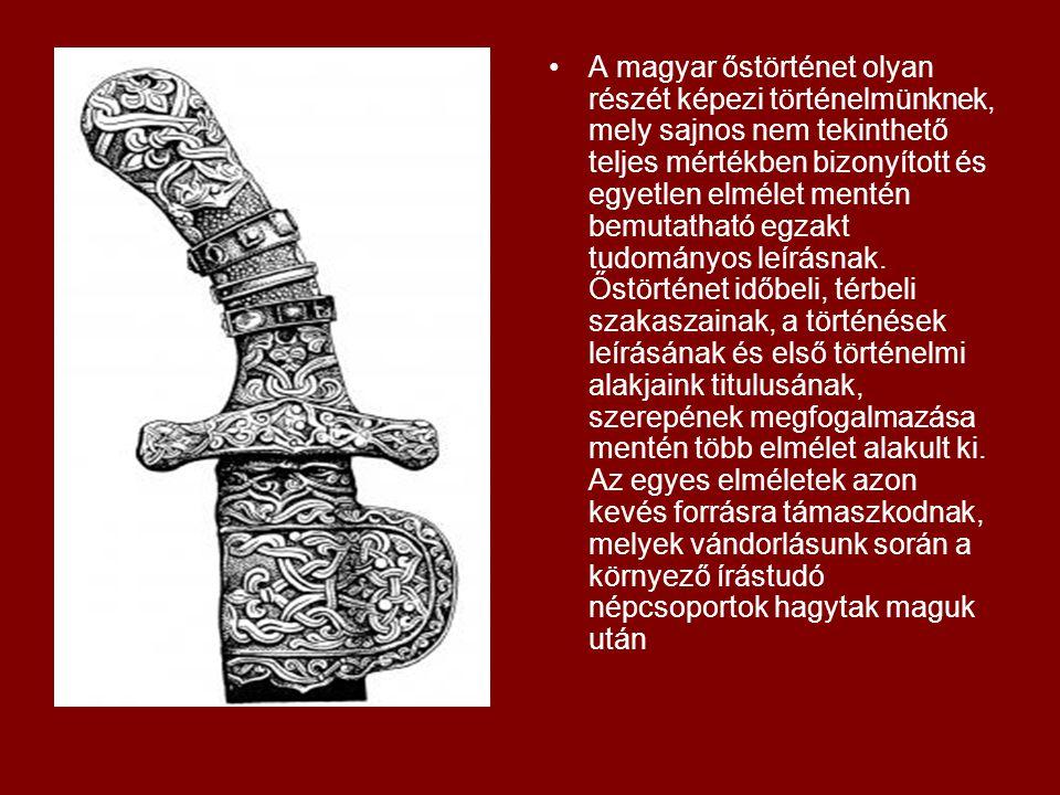 A magyar őstörténet olyan részét képezi történelmünknek, mely sajnos nem tekinthető teljes mértékben bizonyított és egyetlen elmélet mentén bemutathat