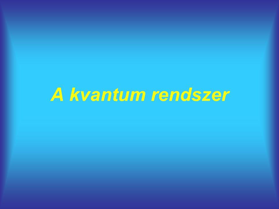A kvantum rendszer