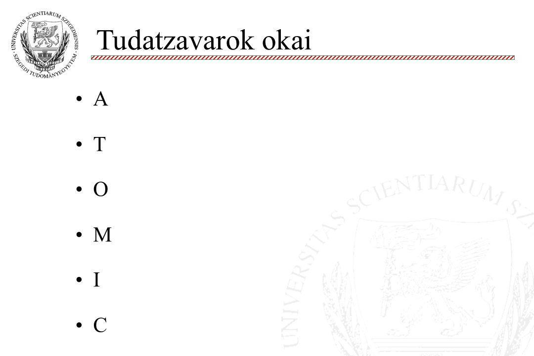 A T O M I C Tudatzavarok okai