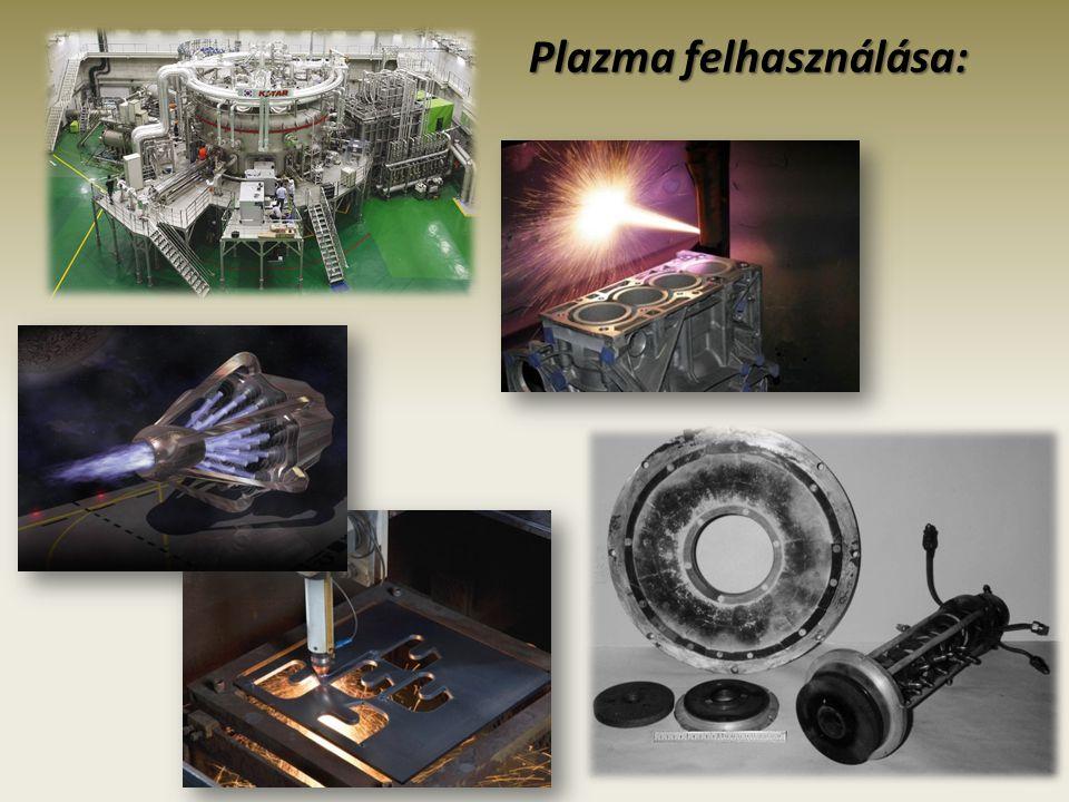 Plazma felhasználása: