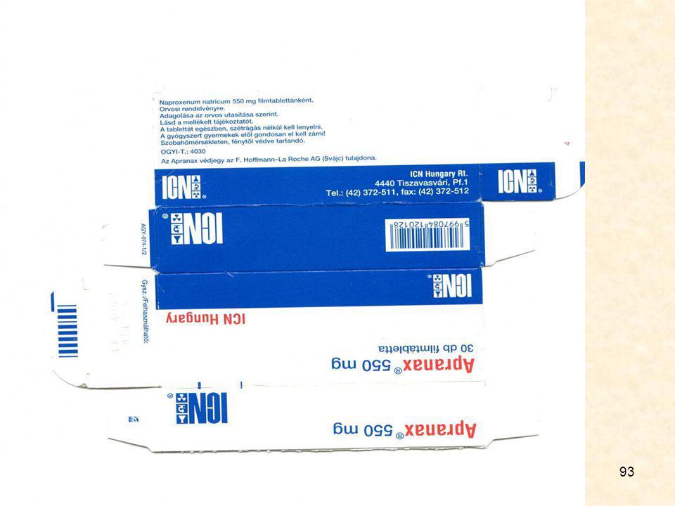 92 Gyógyszer- doboz