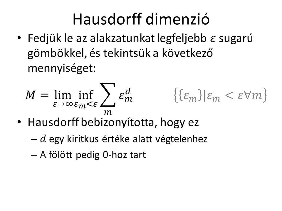 Hausdorff dimenzió