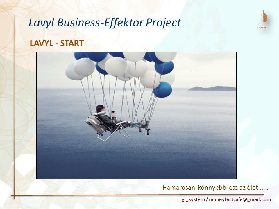 LAVYL - START Lavyl Business-Effektor Project Hamarosan könnyebb lesz az élet...... gl_system / moneyfestcafe@gmail.com