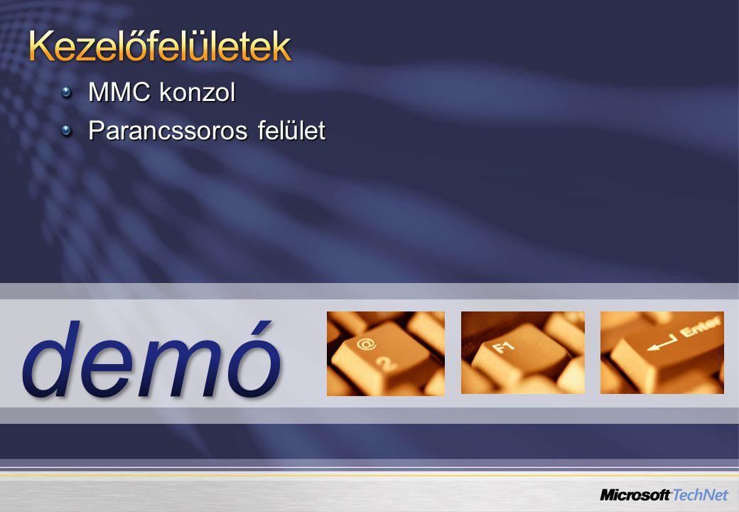 MMC konzol Parancssoros felület
